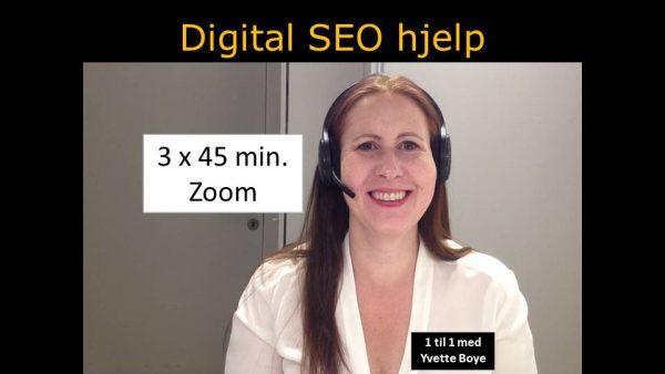 SEO hjelp for min nettside med Zoom og bilde av smilende Yvette Boye