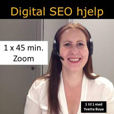 SEO hjelp online vist med bilde av smilende Boye med øreklokker på